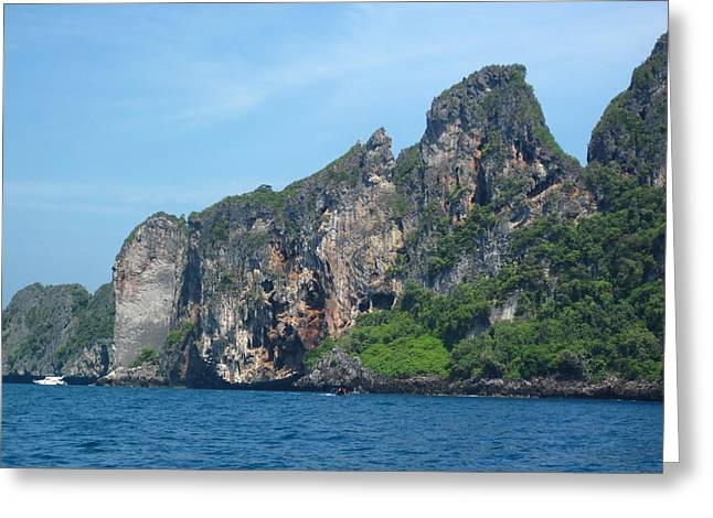 Long Boat Tour - Phi Phi Island - 0113183 Greeting Card by DC Photographer