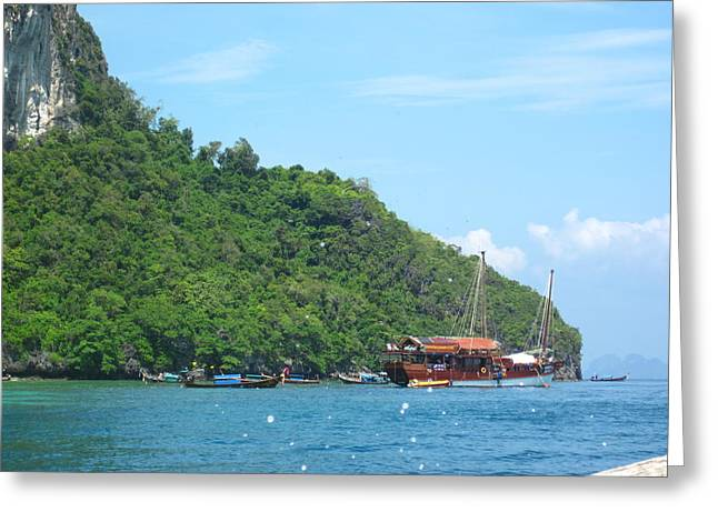 Long Boat Tour - Phi Phi Island - 0113206 Greeting Card by DC Photographer
