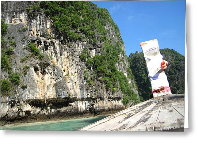 Long Boat Tour - Phi Phi Island - 011353 Greeting Card by DC Photographer