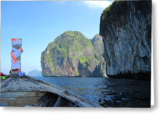 Long Boat Tour - Phi Phi Island - 011392 Greeting Card by DC Photographer