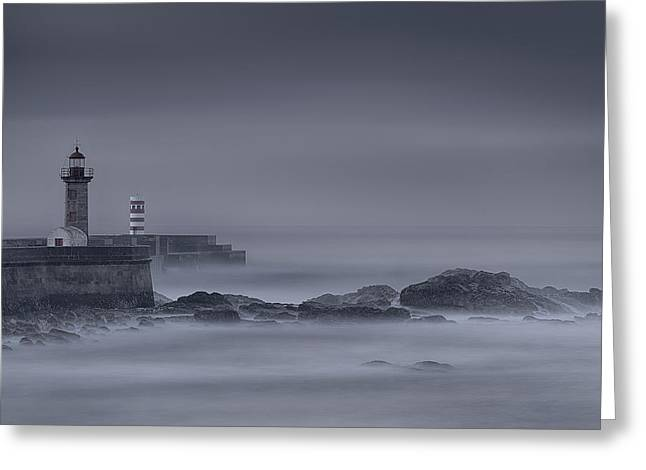 Long Exposure Foz Porto Greeting Card
