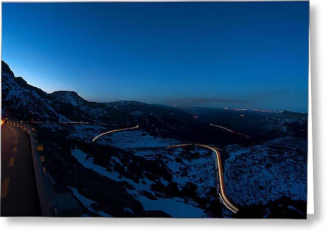 Long Exposure In Serra Da Estrela Portugal Greeting Card