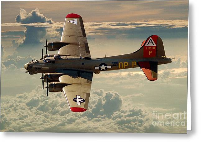 Long Flight Home Of A B-17 Greeting Card