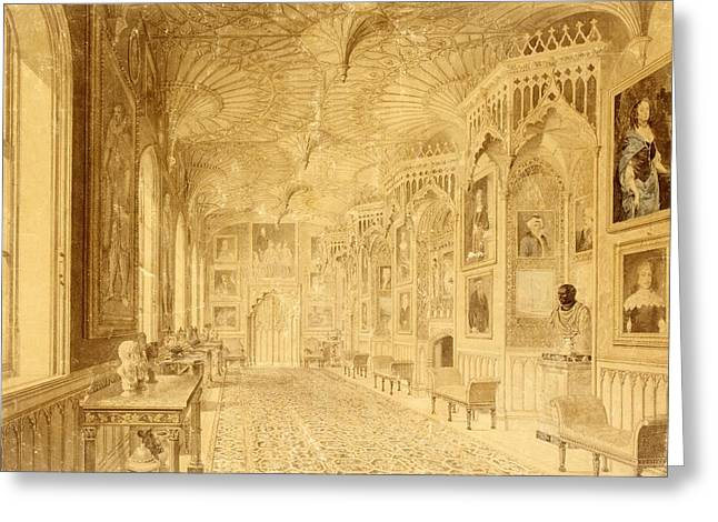 Long Gallery At Strawberry Hill Greeting Card