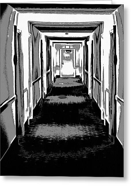 Long Hallway Greeting Card