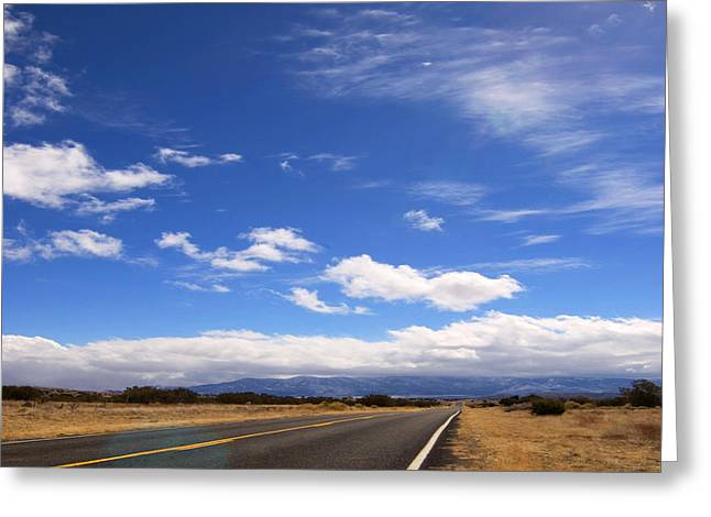 Greeting Card featuring the photograph Long Highway by Bob Pardue
