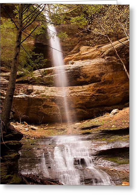 Long Hollow Waterfall Greeting Card by Haren Images- Kriss Haren
