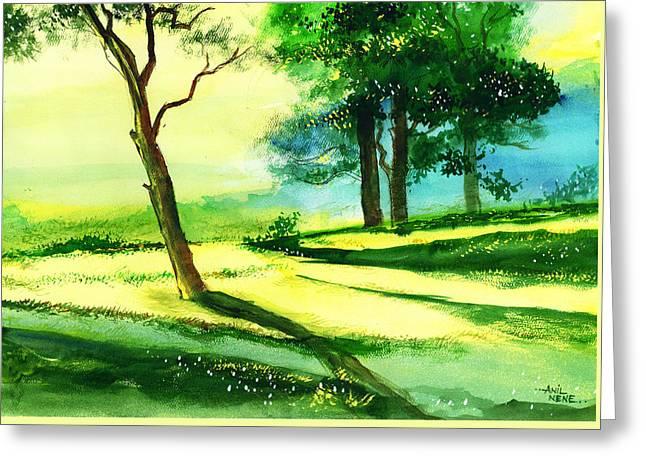 Long Horizon Greeting Card by Anil Nene
