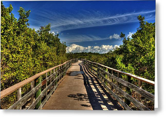 Greeting Card featuring the photograph Long Key Park Passage by Julis Simo