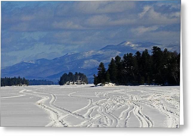 Long Lake Greeting Card by Heather Allen