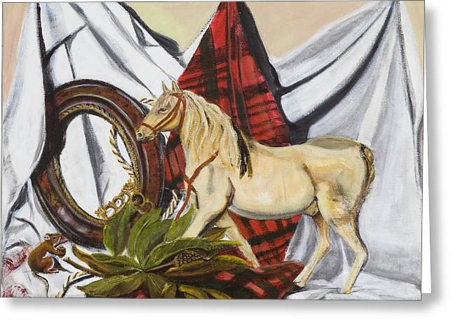 Greeting Card featuring the painting Long May He Ride by Susan Culver