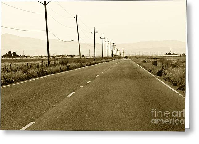 Long Road Home Greeting Card by Artist and Photographer Laura Wrede
