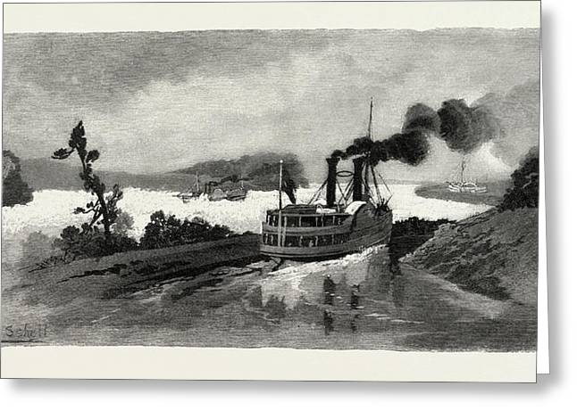 Long Sault Rapids, From The Canal, Eastern Ontario Greeting Card by Canadian School