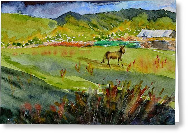 Long Shadow Storm Greeting Card by Beverley Harper Tinsley