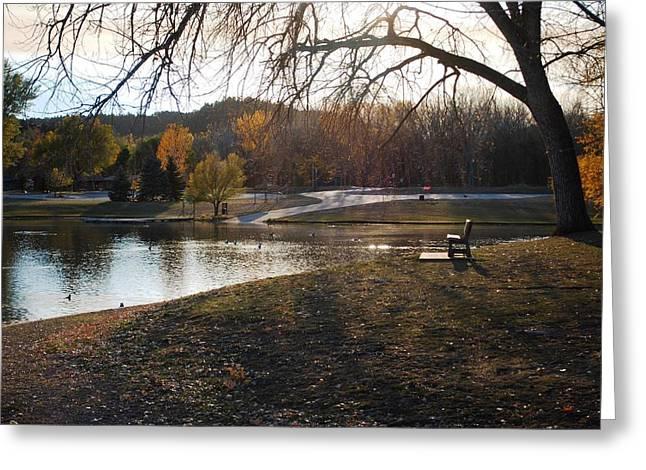 Long Shadows At Canyon Lake Greeting Card by Dakota Light Photography By Dakota