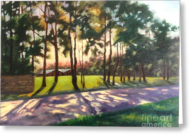 Long Shadows On Longmire  Greeting Card by Nancy  Parsons