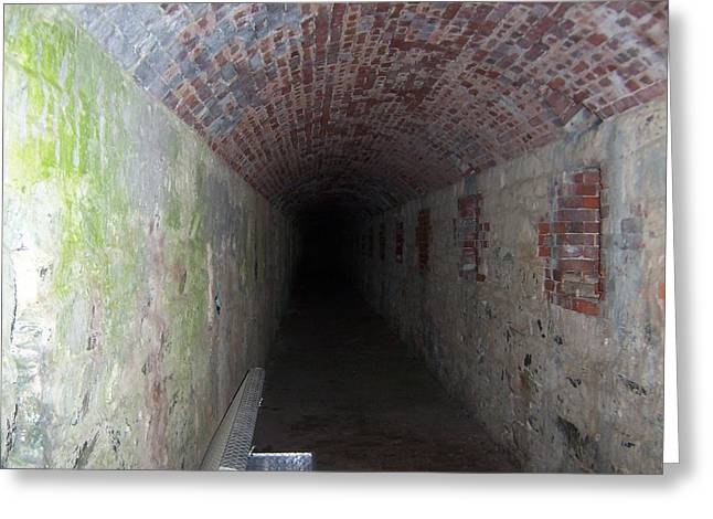 long tunnel in Ft Adams Greeting Card by Catherine Gagne