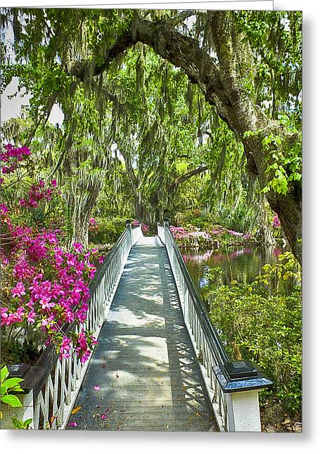 Long White Bridge Greeting Card