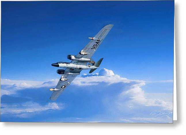 Long Wing Weather Recon Greeting Card by Peter Chilelli
