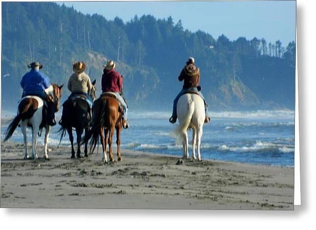 Longbeach Horses Greeting Card