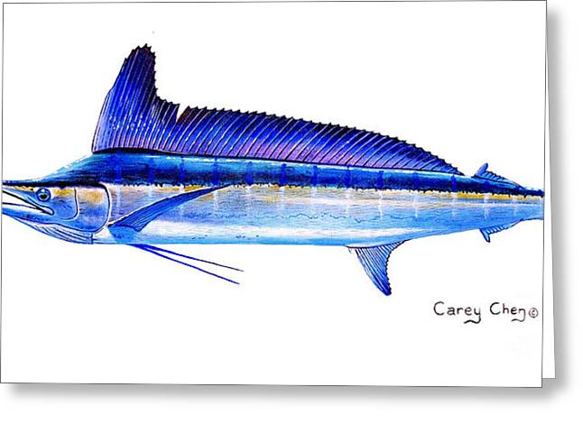 Longbill Spearfish Greeting Card by Carey Chen