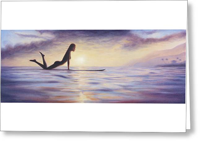 Longboard Love Greeting Card by Kelly Meagher