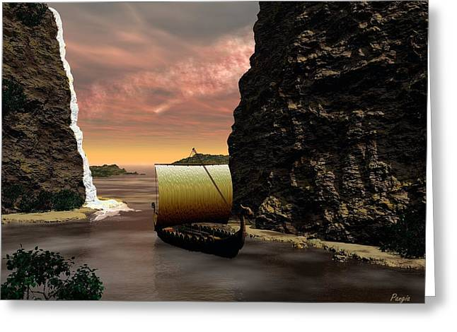 Longboat Greeting Card by John Pangia