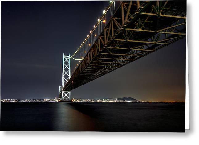 Longest Suspension Bridge In The World Greeting Card by Daniel Hagerman