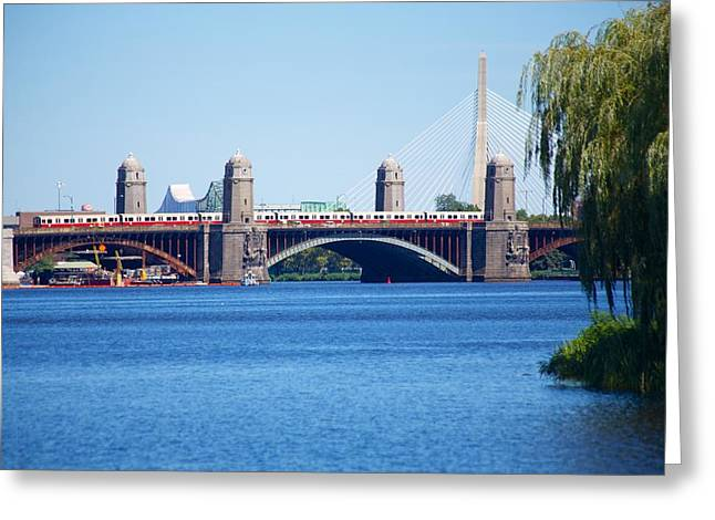 Longfellow Bridge 2 Greeting Card by Allan Morrison