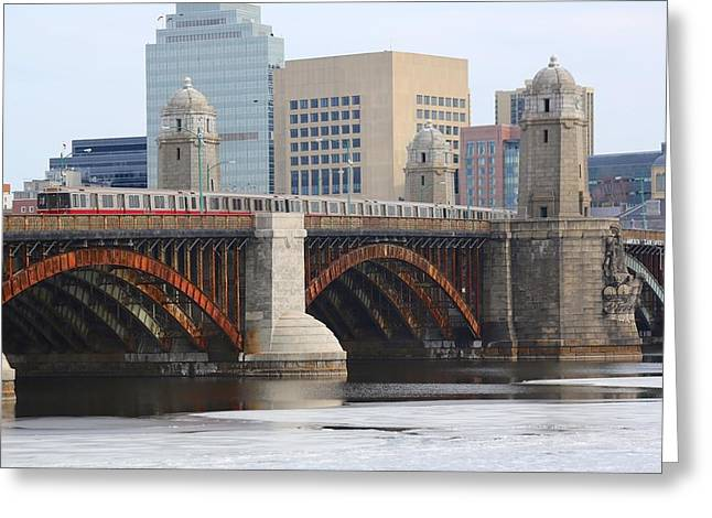 Longfellow Bridge 3 Greeting Card by Allan Morrison