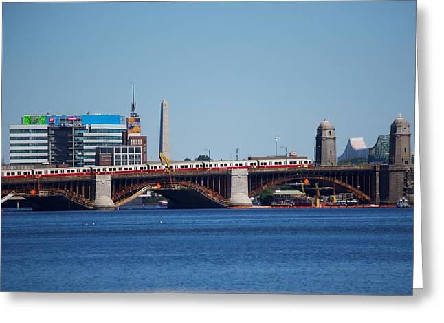 Longfellow Bridge Greeting Card by Allan Morrison