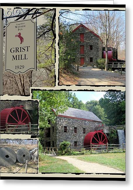 Longfellow's Grist Mill Greeting Card by Patricia Urato