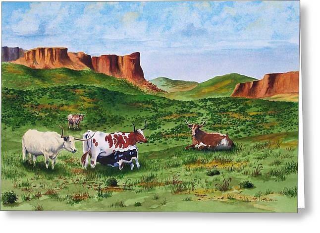 Longhorn Country Greeting Card