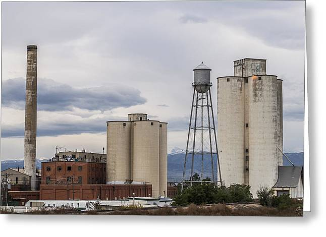 Longmont Sugar Mill Greeting Card by Aaron Spong