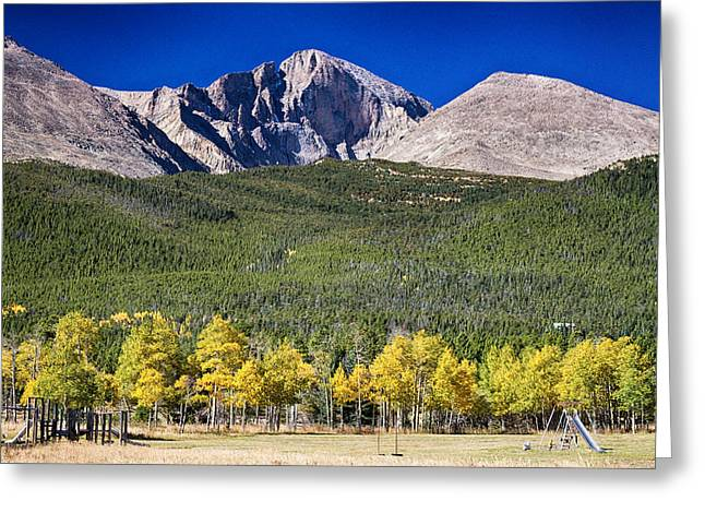 Longs Peak A Colorado Playground Greeting Card