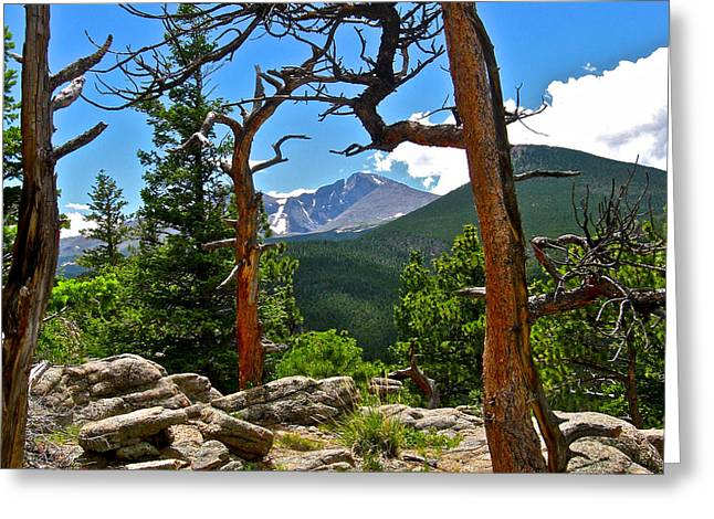 Longs Peak Greeting Card