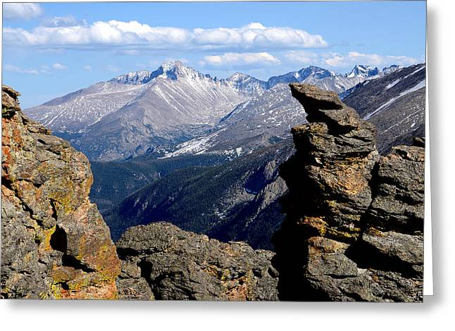 Long's Peak From The Rock Cut Greeting Card