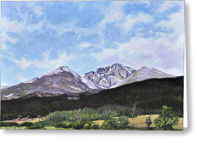 Longs Peak Vista Greeting Card