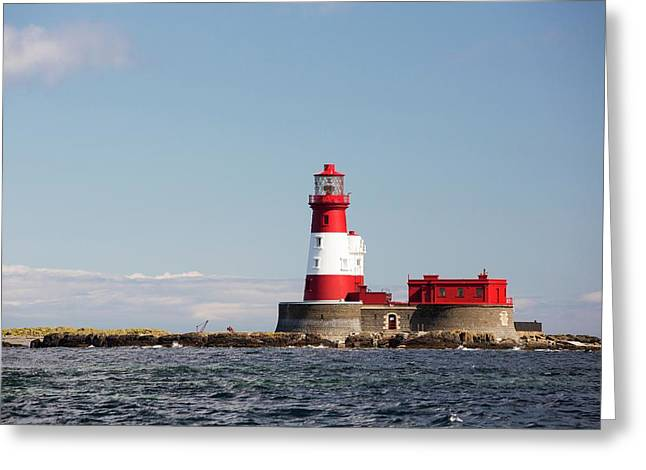 Longstone Lighthouse Greeting Card by Ashley Cooper