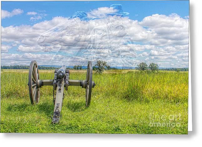 Longstreet Returns To Gettysburg Greeting Card by Randy Steele