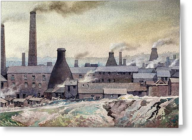 Longton Skyline Greeting Card by Anthony Forster