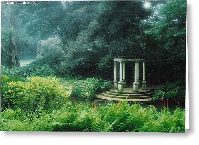 Longwood Gazebo Greeting Card