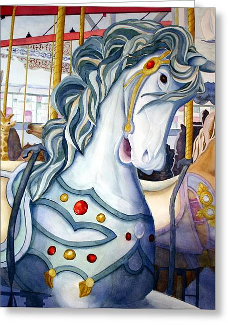 Looff Carousel Greeting Card