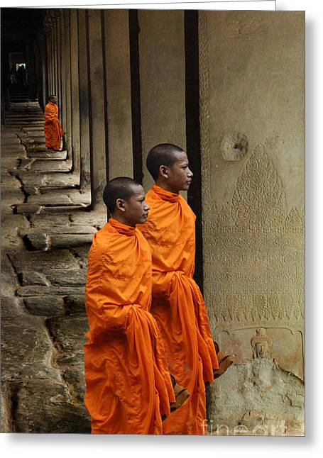 Looking Into Cambodia Ankor Wat Greeting Card