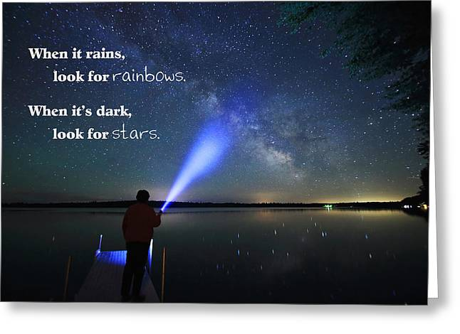 Look For Stars Greeting Card