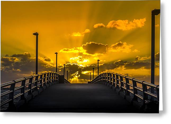 Look Into The Rays Greeting Card by Marvin Spates