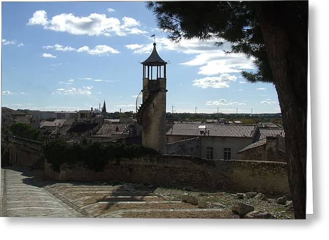 Look Out Tower On The Approach To Beaucaire Castle Greeting Card