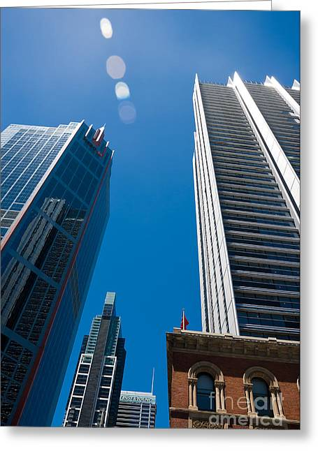 Look Up To The Sky - Skyscrapers In Sydney Australia Greeting Card