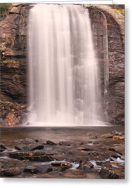 Greeting Card featuring the photograph Lookging Glass Falls by Tyson and Kathy Smith