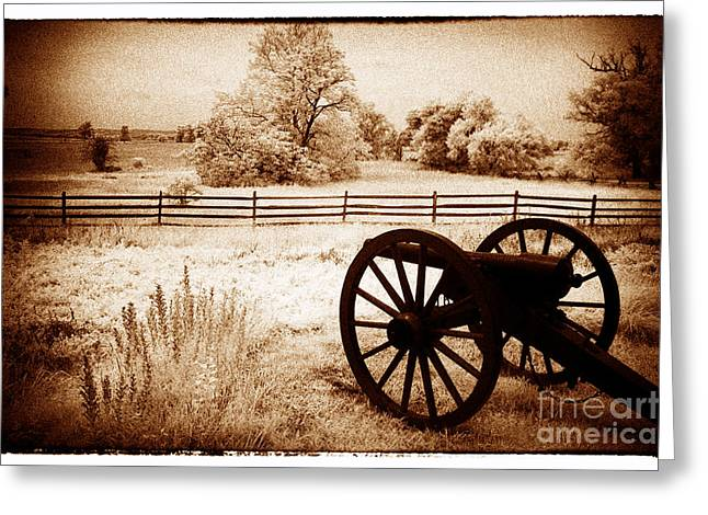 Looking Across The Battle Line Greeting Card by Paul W Faust -  Impressions of Light